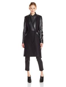 Áo khoác Ted Baker Women's Nexie Wool Fitted Coat with Leather Sleeve