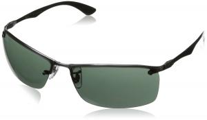 Kính mắt Ray-Ban Men's Rb8315 Rectangular Sunglasses,Gunmetal,63 mm