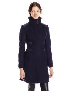 Áo khoác Via Spiga Women's Funnel-Neck Wool-Blend Coat