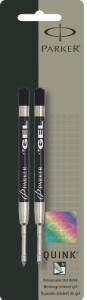 Bút Parker Refill for Retractable Gel Ink Pens, Medium, Black Ink, 2 per Pack (30525PP)