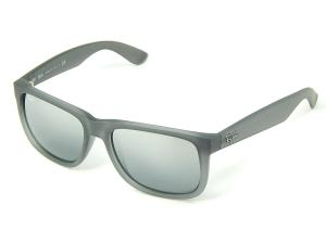 Kính mắt Ray Ban Justin RB4165 852/88 Gray Faded Rubber/Gray Gradient Mirror 55mm Sunglasses