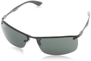Kính mắt Ray-Ban Men's RB8315 Rectangular Sunglasses,Black,63 mm