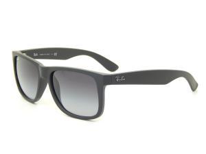 Kính mắt Ray-Ban RB4165 Justin Sunglasses, Rubber Black/Gray Gradient, 55mm