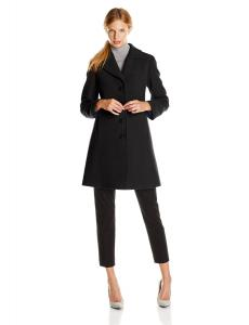 Áo khoác Larry Levine Women's Classic Single-Breasted Notch-Collar Coat