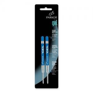 Ngòi bút Parker Refill for Gel Ink Roller Ball Pens, Medium, Blue Ink, 2/Pack
