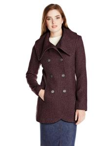 Áo khoác Jessica Simpson Women's Double-Breasted Fold-Collar Wool Coat