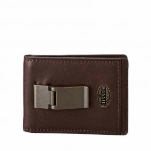 Ví Fossil Estate Id Bifold Front Pocket Wallet Brown Ml3224201