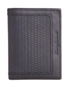Ví Tommy Bahama Men's Leather L-Fold Bifold Wallet (Black)