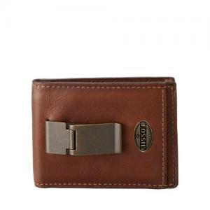 Ví Fossil Estate Id Bifold Front Pocket Wallet Cognac Ml3224222