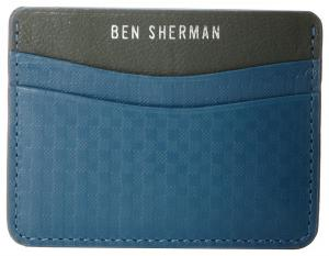 Ví Ben Sherman Men's Embossed Leather Gingham Card Holder