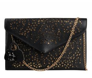 Túi xách Hynes Eagle Faux Leather Hollow Envelope Bag Summer Clutch Purse