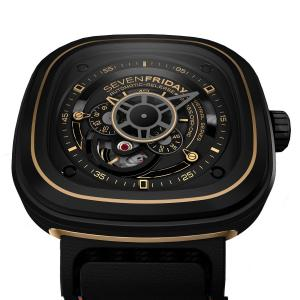 Đồng hồ SevenFriday P2-2 Industrial Revolution Black and Gold