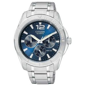 Đồng hồ Citizen Stainless Steel Quartz Blue Dial Men's Watch - AG8300-52L