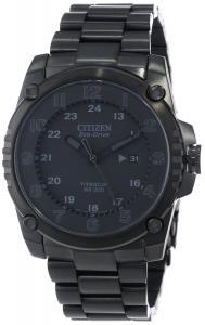 Đồng hồ Citizen Men's BJ8075-58E Eco-Drive STX43 Shock-Proof Black Titanium Watch