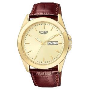 Đồng hồ Citizen Quartz Leather Strap Brown Dial Men's Watch - BF0582-01P