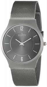 Đồng hồ Skagen Men's SKW6078 Melbye Quartz 3 Hand Date Titanium Gray Watch
