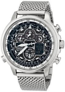 Đồng hồ Citizen Men's JY8030-83E Navihawk A-T Analog Display Japanese Quartz Silver Watch