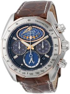 Đồng hồ Citizen Men's AV3006-09E The Signature Collection Eco-Drive Moon Phase Flyback Chronograph Watch