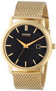 Đồng hồ Citizen Men's BM7192-51E Mesh Collection Analog Display Japanese Quartz Gold Watch