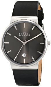Đồng hồ Skagen Men's SKW6101 Ancher Quartz 3 Hand Date Stainless Steel Black Watch