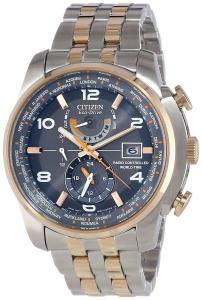 Đồng hồ Citizen Men's AT9016-56H Eco Drive World Time A-T Grey Dial Watch