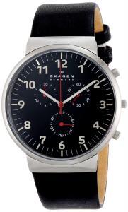 Đồng hồ Skagen Men's SKW6100 Ancher Quartz/Chronograph Stainless Steel Black Watch