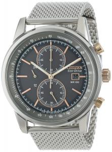 Đồng hồ Citizen Men's CA0336-52H Stainless Steel Eco-Drive Watch