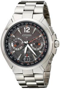 Đồng hồ Citizen Men's CC1090-61E Satellite Wave Analog Display Japanese Quartz Silver Watch