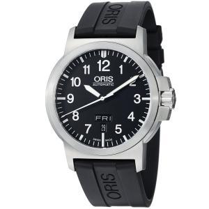 Đồng hồ Oris Men's 73576414164RS BC3 Rubber Strap Black Dial Watch