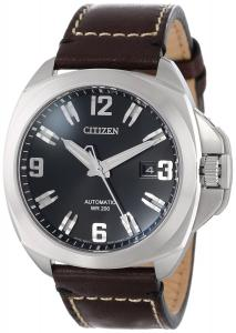 Đồng hồ Citizen Men's NB0070-06E Grand Touring Signature Automatic Brown Leather Strap Watch