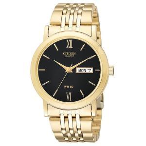 Đồng hồ Citizen Quartz Day Date Gold Tone Black Dial Men's Watch - BK4052-59E