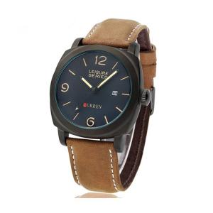 Đồng hồ Forrader® Curren 8158 Chronometer Quartz Leisure Fashion Watch with Leather Strap