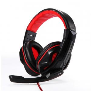 Tai nghe EasyAcc® Two-Channel Stereo Gaming Headphones with Omnidirectional Microphone, Professional Music and Gaming Headset for Online Gaming, Desktop PCs, Laptops, Tablets, and More-Red