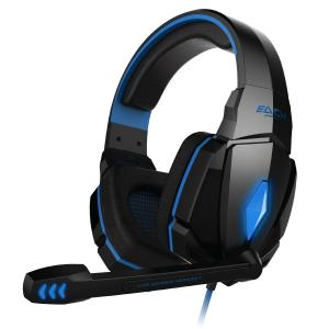 Tai nghe VersionTech Blue EACH G4000 Professional 3.5mm PC Gaming Stereo Noise Canelling Headset Headphone Earphones with Volume Control Microphone HiFi Driver For Laptop Computer