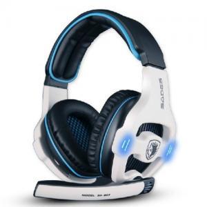 Tai nghe Sades Stereo 7.1 Surround Pro USB Gaming Headset with Mic Headband Headphone (White)