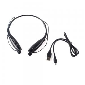 Tai nghe J-MALL Universal HV-800 Wireless Music A2DP Stereo Bluetooth Headset Universal Vibration Neckband Style Headset Earphone Headphone For cellphones such as iPhone, Nokia, HTC, Samsung, LG, Moto, PC, iPad, PSP and so on & enabled Bluetooth-Black