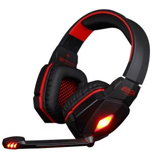 Tai nghe VersionTech Red EACH G4000 Professional 3.5mm PC Gaming Stereo Noise Canelling Headset Headphone Earphones with Volume Control Microphone HiFi Driver For Laptop Computer