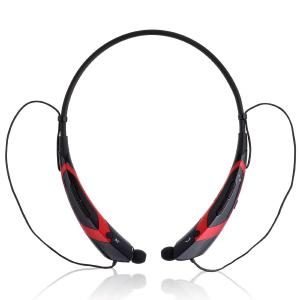 Tai nghe HBS-760 Wireless Bluetooth 4.0 Music Stereo Universal Headset Headphone Vibration Neckband Style for iPhone iPad Samsung LG (Black-Red)