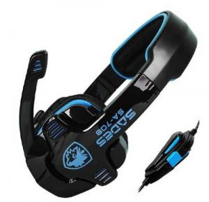 Tai nghe SADES SA-708 Stereo Gaming Headphone Headset with Microphone (Blue)