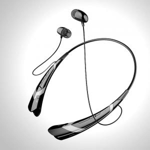 Tai nghe Soundpeats Universal Hbs-760 Wireless Music A2dp Stereo Bluetooth Headset Universal Vibration Neckband Style Headset Earphone Headphone for Cellphones Enabled Bluetooth (Black/silver03)