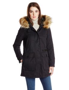 7 For All Mankind Women's Coated-Cotton Anorak