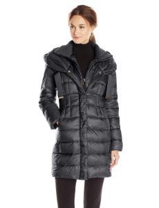 T Tahari Women's Olivia Down Coat with Ruching