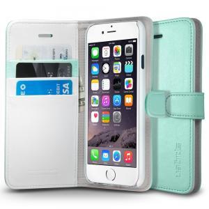 iPhone 6 Case, Spigen® [Stand Feature] iPhone 6 (4.7) Case Wallet [Wallet S] [Mint] Premium Wallet Case with STAND Flip Cover for iPhone 6 (4.7) (2014) - Mint (SGP10974)