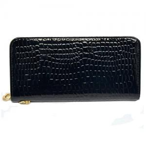 Ví nữ ANBANA @ Synthetic Leather Stone Pattern Women Wallet Purse (Black)