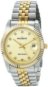 Peugeot Men's 1042TT Crystal-Accented Stainless Steel Watch