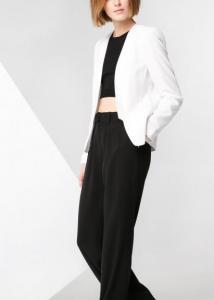 Áo vest nữ Mango Satin edge blazer