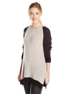 VELVET BY GRAHAM & SPENCER Women's 100% Cashmere Colorblock Sweater