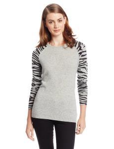 Áo len bela.nyc Women's 100% Cashmere Animal-Print Sweater