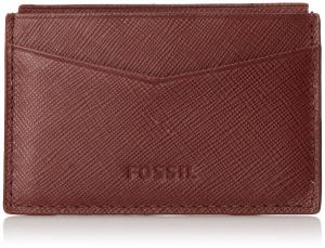 Ví Fossil Men's Caleb Card Case Red