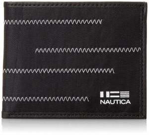 Ví Nautica Men's Fabric Passcase with Zig Zag Stitch Accent